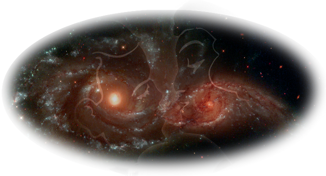 Kissing Galaxies