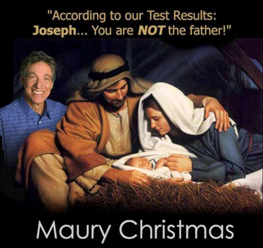 Maury giving Joseph a Parternity Test