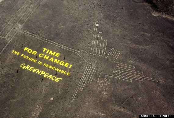 Greenpeace Stunt in Peru - Associated Press