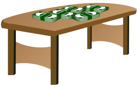 Cash on Table
